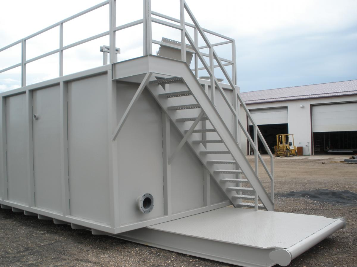 Water Tank Stairs : Solids separation tank amen manufacture and oil services