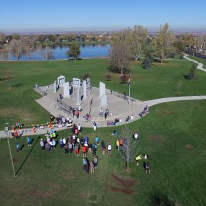 aerial photography video DJI drone Inspire Inspire 1 veteran veterans war memorial greeley colorado CO